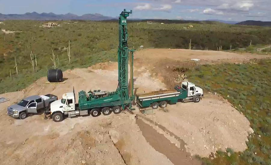 drilling a domestic well in Goldfield Ranch, Arizona