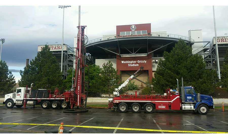Foremost DR-24HD rig at Washington-Grizzly Stadium