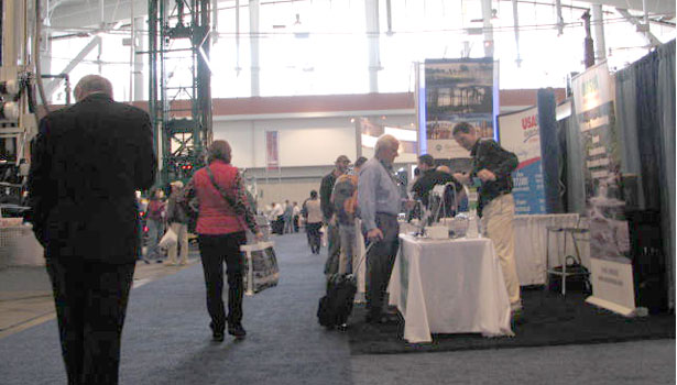 Attendees work their way through the Expo, which featured nearly 300 exhibitors.