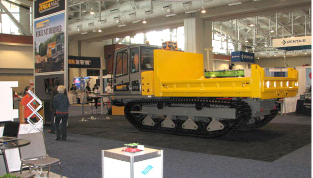 Terramac showed off the company's track carrier.