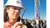 geothermal analyst examines tiny heat sensor