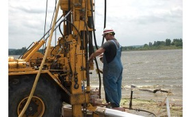 drilling a relief well at Lake Contrary