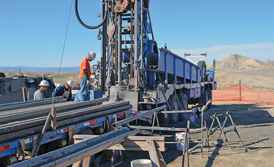 coring in the Mancos shale formation