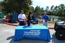 Thompson lawyer Susanne McCabe draws the contest winner