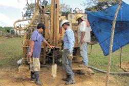 The group Texas Water Mission drills a well in Santa Maria, Honduras