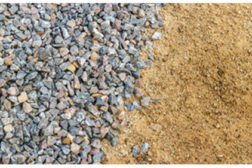 gravel and sand