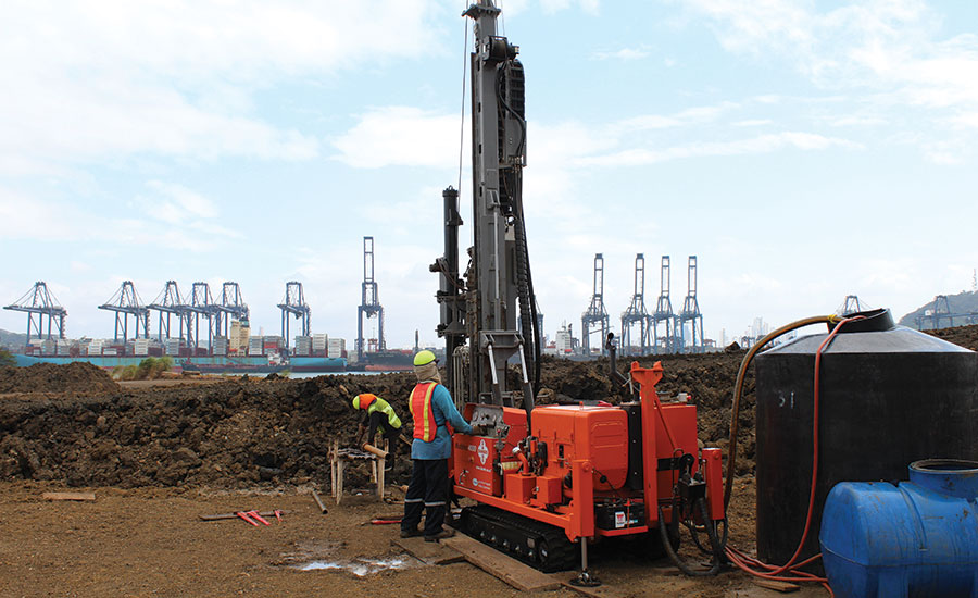 Dando Drilling crews perform sampling
