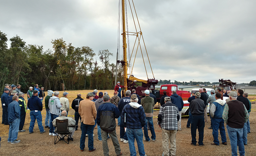 drilling demo at Virginia Water Well Association's 2016 Outdoor Days