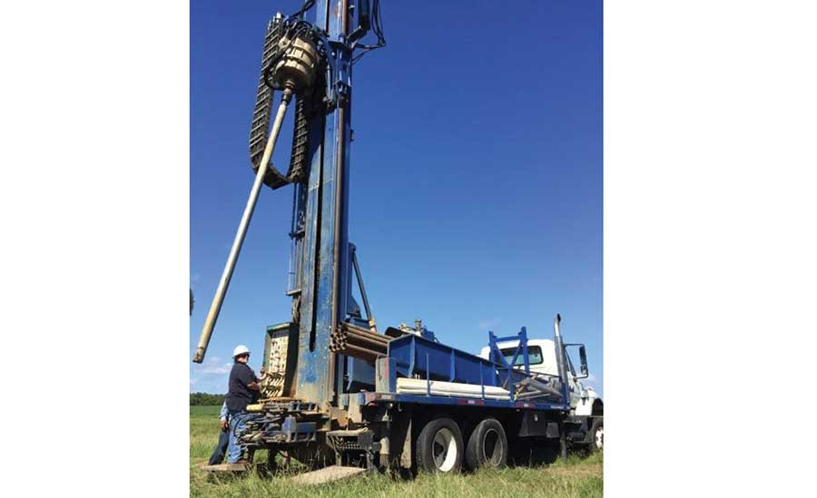 Tina Peters on drilling rig