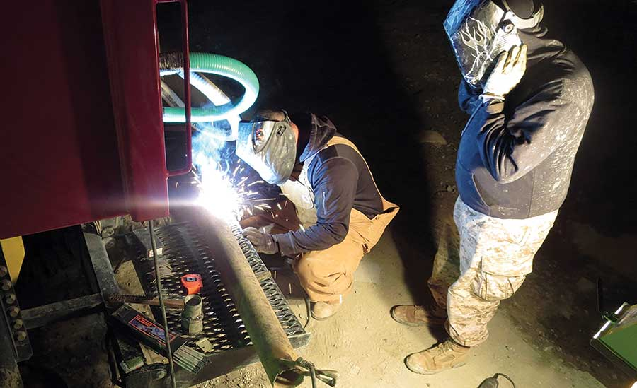 welding in the field