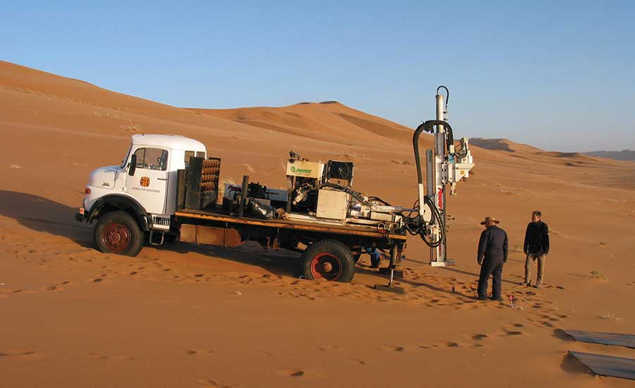 drilling project in Namibia
