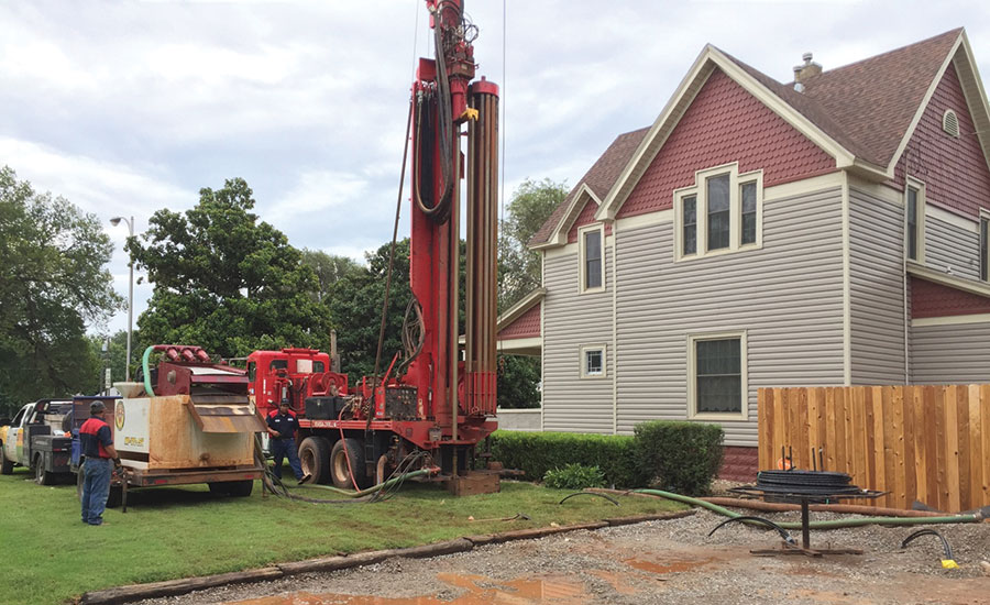 residential geothermal installation
