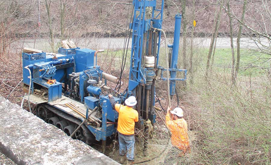 drilling in woodland