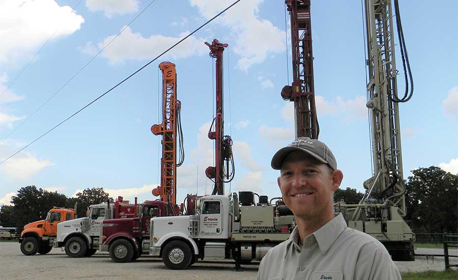 Brandon Erwin with drilling fleet