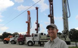 Brandon Erwin with drilling fleet