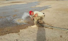 pumping groundwater
