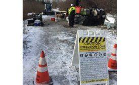 drilling jobsite in winter