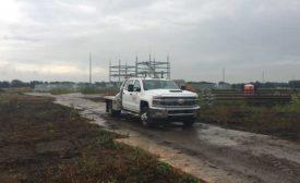 en route to drilling jobsite