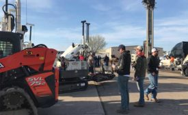 drilling rigs on display at Geoprobe Open House event