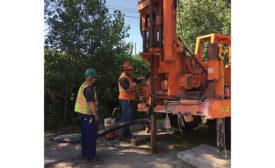 diesel-powered drilling rig
