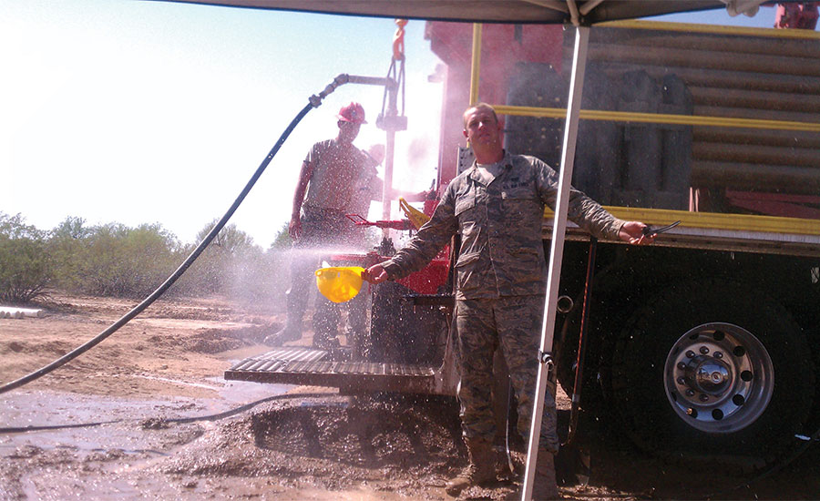 Jeremy Thomas with the RED HORSE water well drillers