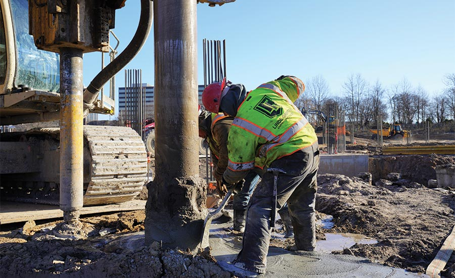 installing full displacement piles
