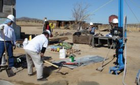 water well project on remote site