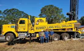 The crew at Rumsey-Lang Well Drilling & Pumps