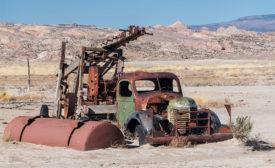 broken-down rig