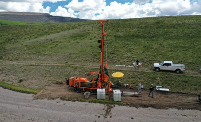 Authentic Drilling crew in the field