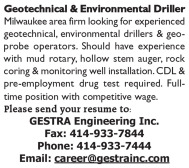 EXPERIENCED GEOTECHNICAL & ENVIRONMENTAL DRILLERS