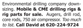 MOBILE & CME DRILLING RIGS & RIG PARTS FOR SALE