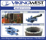 SPT AUTO HAMMERS, PIPE HANDLERS, BREAKOUT WRENCHES AND SONIC TOOLING