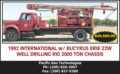 1992 INTERNATIONAL W/BUCYRUS ERIE 22W WELL DRILLING RIG