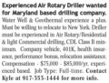 EXPERIENCED AIR ROTARY DRILLER WANTED