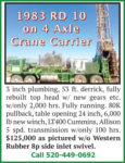 1983 RD 10 ON 4 AXLE CRANE CARRIER
