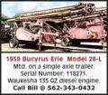 1959 BUCYRUS ERIE MODEL 28-L