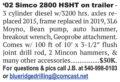 2002 SIMCO 2800 HSHT ON TRAILER