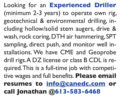 EXPERIENCED DRILLER - CANADA