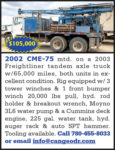 2002 CME-75 MTD. ON 2003 FREIGHTLINER