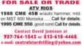 ATV DRILL RIGS: CME 45B & CME 550