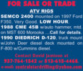 ATV DRILL RIGS: SEMCO 2400, CME 45B & DIEDRICH D-120