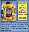 Atlas Hydraulic Casing Jack