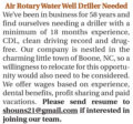 AIR ROTARY WATER WELL DRILLER NEEDED - NC
