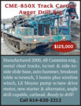 2000 CME-850X TRACK CARRIER AUGER DRILL RIG