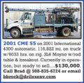 2001 CME 55 AUGER RIG
