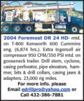 2004 FOREMOST DR 24 HD