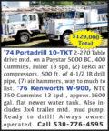 '74 PORTADRILL 10-TKT & '76 KENWORTH W-900