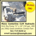 MONO CENTERLINE CLM HYDRAULIC DRILL RIG PUMP