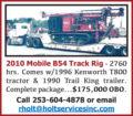 2010 MOBILE B54 TRACK RIG